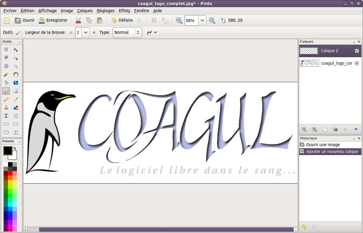 Installation Et Test Du Logiciel De Retouche Graphique Nomme Pinta Coagul