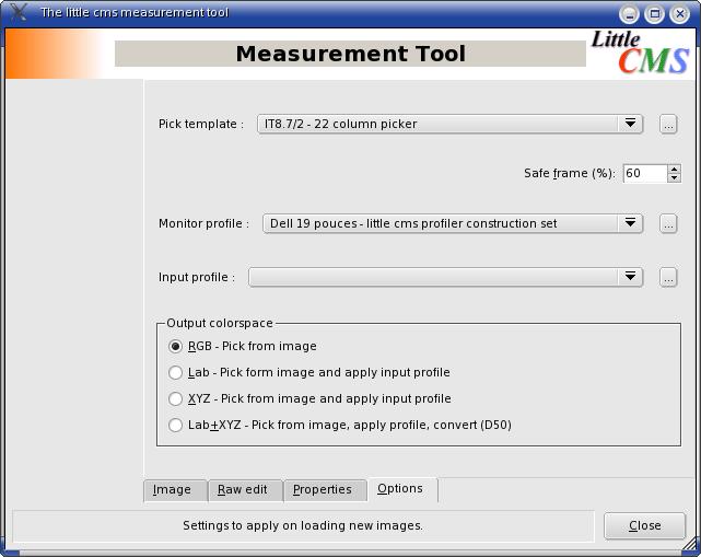 Measurement Tool options