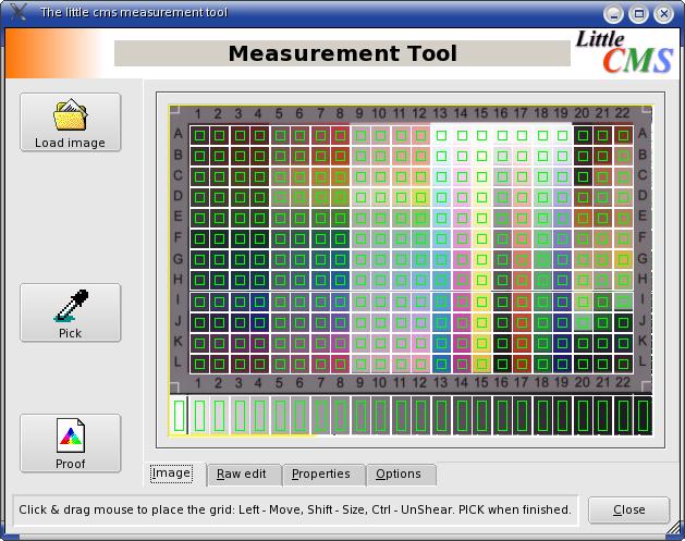 Measurement Tool charte mire