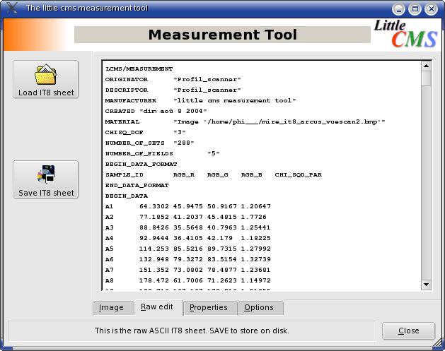 Measurement Tool Raw edit