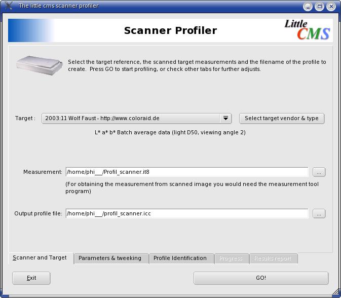 Scanner Profiler scan & target