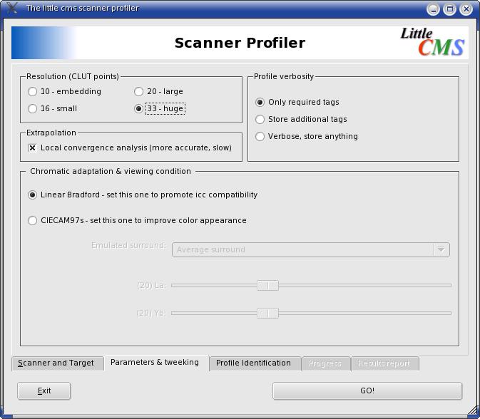 Scanner Profiler param