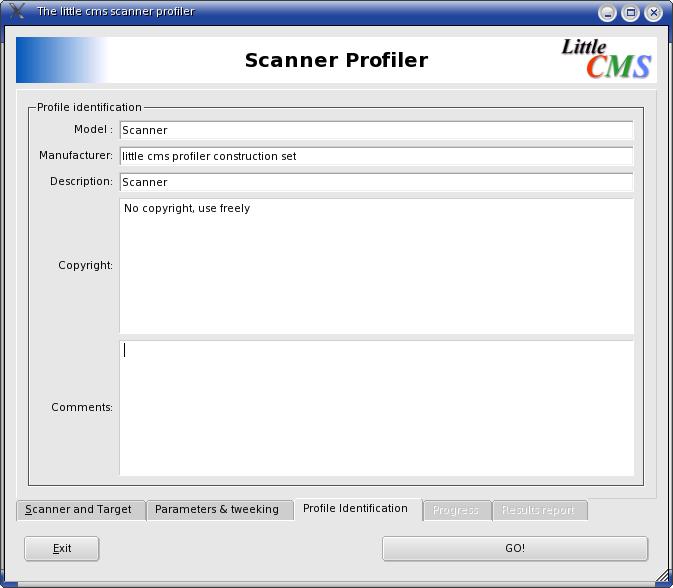 Scanner Profiler identification
