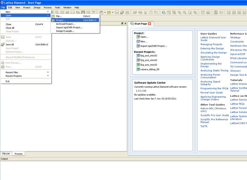 File:Open project from diamond ide.png