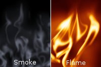 smoke and flame avec gimp