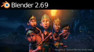 Ecran d'accueil de Blender 269