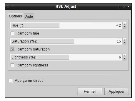 Les nouveaux curseurs dans l'extension Ajustement TSL