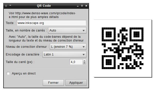 L'extension QR-code