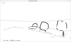 Application de la ligne personnalisée au paysage