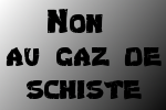 Non au gaz de schiste