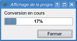 Barre de progression