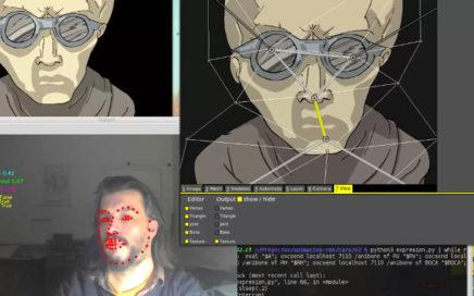 Animation con dlib + opencv + animata