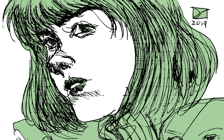 Girl Intense Stare