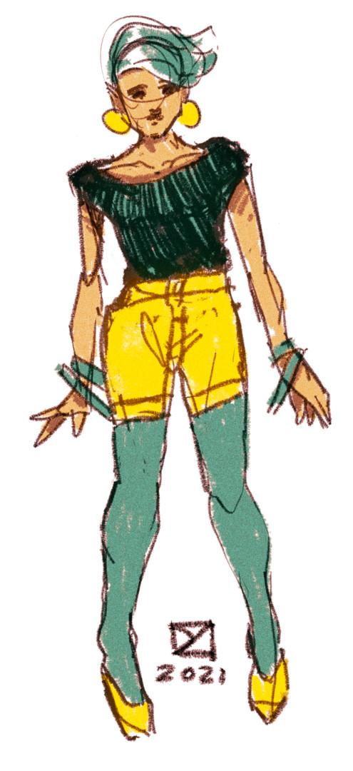 Retro Girly Doodle