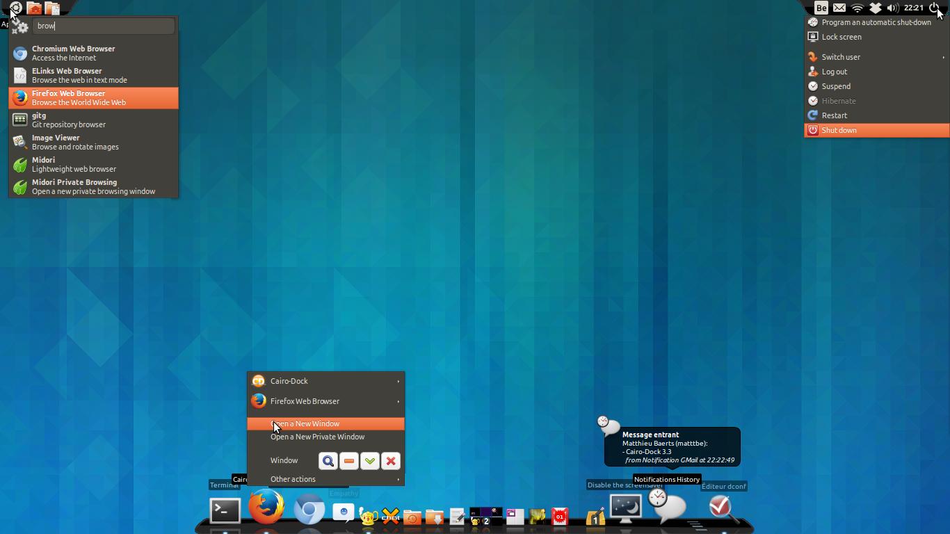 how to install Cairo Dock 3.3.1 on Ubuntu 13.10 Saucy Salamander, Ubuntu 13.04 Raring Ringtail, Ubuntu 12.10 Quantal Quetzal, Ubuntu 12.04 Precise Pangolin, Ubuntu 10.04 Lucid Lynx, Linux Mint 16 Petra, Linux Mint 15 Olivia, Linux Mint 14 Nadia, Linux Mint 13 Maya, Pear OS 8 and Elementary OS 0.2 Luna.
