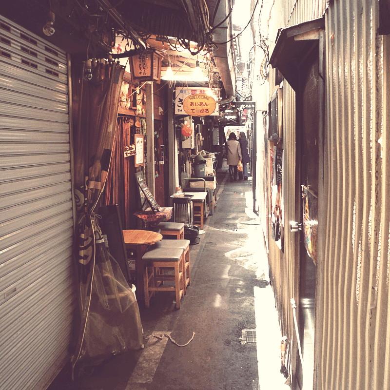 Un passage très étroit presque entièrement recouvert et exclusivement piétonnier où se succèdent des échoppes et des boutiques de petits meubles