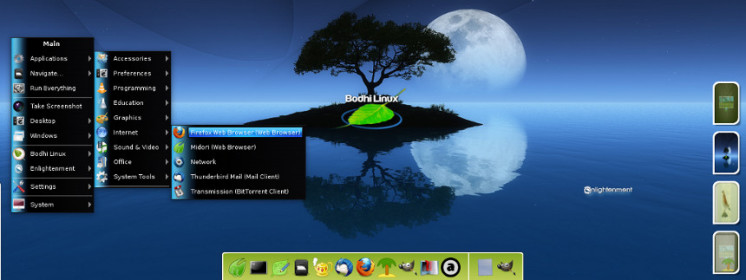 Bureau Bodhi Linux - Enlightenment