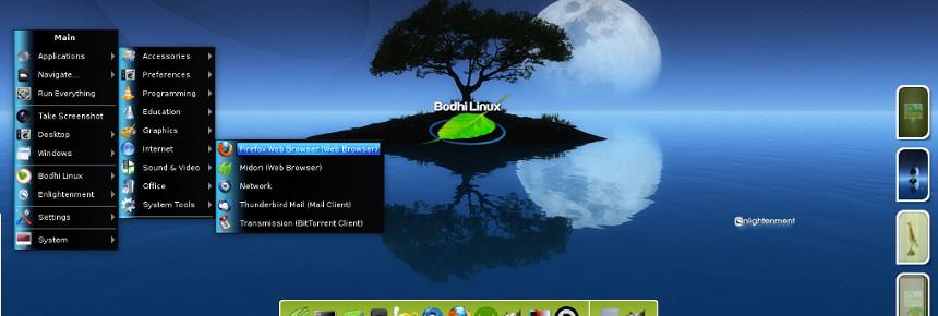 Bureau Bodhi Linux - Enlightenment