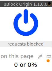 uBlockO - icône logs