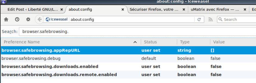 Firefox - configuration