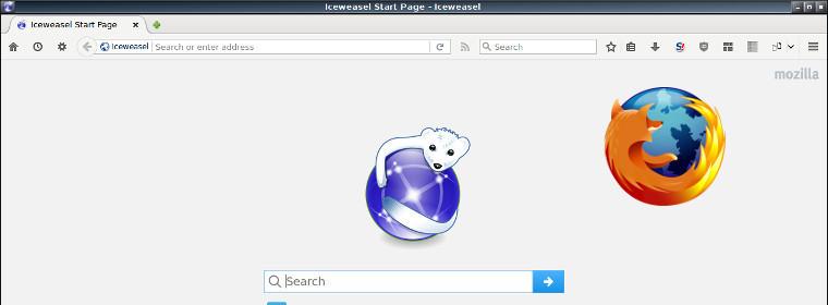 Iceweasel-Firefox Home