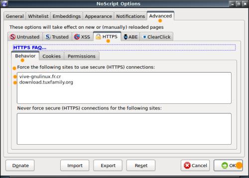 NoScript - HTTPS