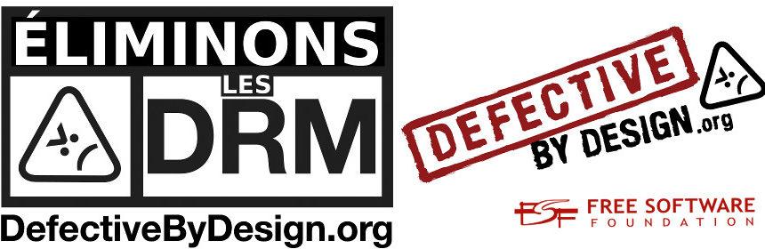 Bannière contre les DRM