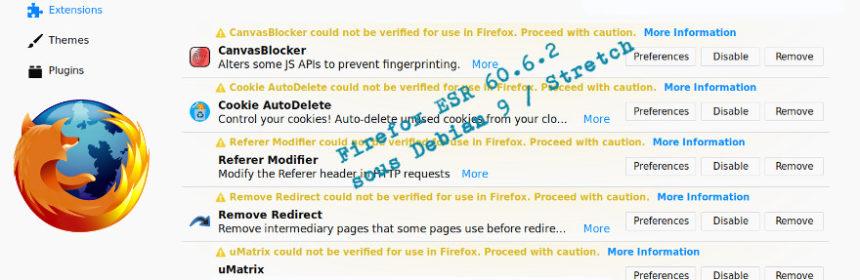 Firefox ESR 60.6.2, 6 mai 2019