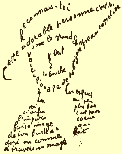 Calligramme d'Appolinaire