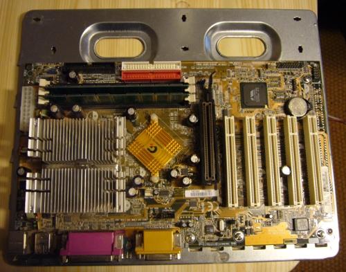Plaque, carte mère, processeur avec radiateur