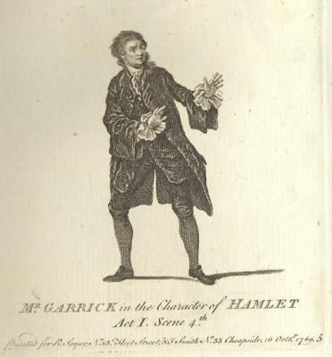 Garrick en Hamlet