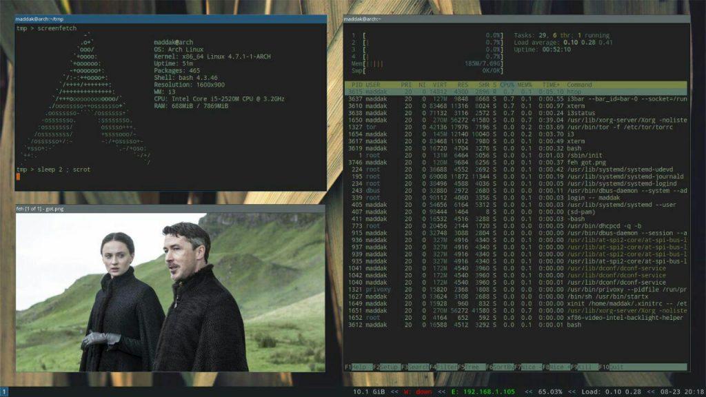 مدیر پنجره i3 شخصی شده