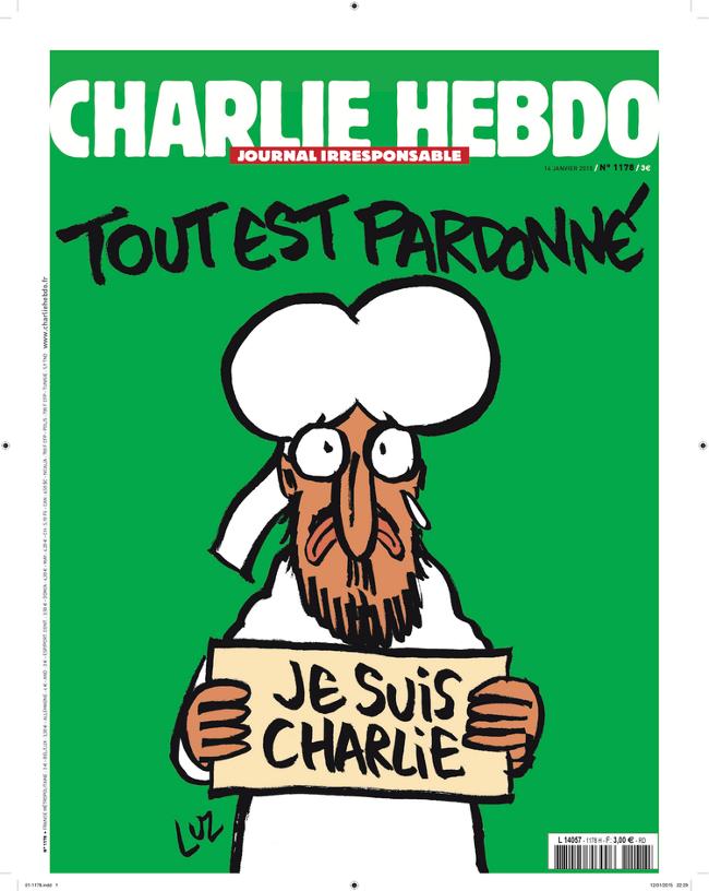 Couverture Charlie Hebdo, 14-01-15