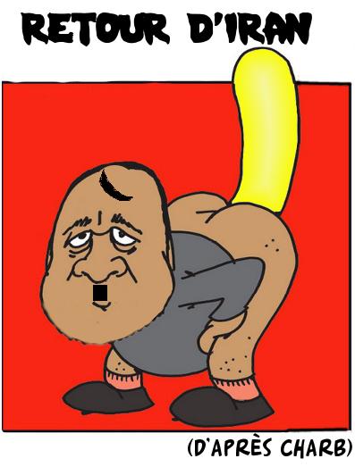 dieudescons avec quenelle en or, d'après Charb