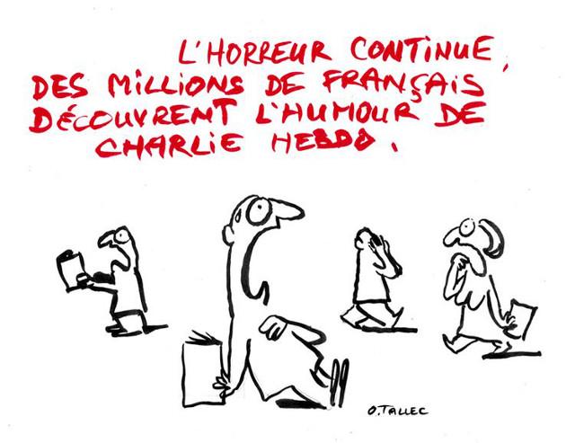 Les Français découvrant Charlie Hebdo