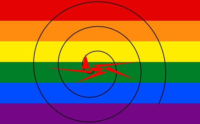 Drapeau LGBT cible