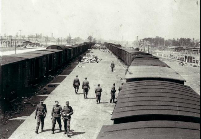 rampe et train, Auschwitz