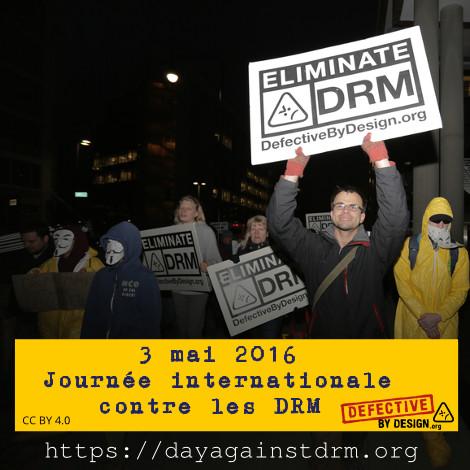 Affiche contre les DRM