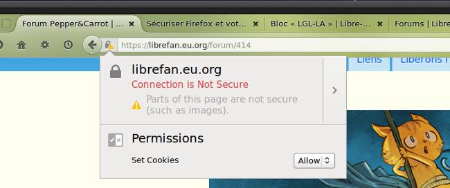 Firefox vous explique le verrou