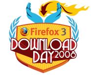 Bagde Download Day/Journée mondiale de téléchargement de Firefox3
