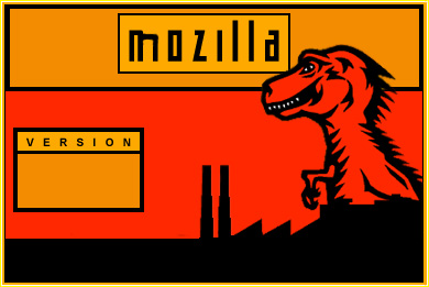 Splashscreen Mozilla en rouge et jaune