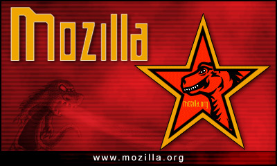 Splashscreen Mozilla étoile et rouge