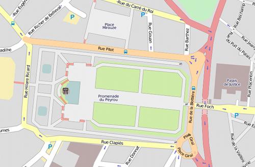 Le jardin en cartographie OpenStreetMap