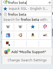 search bar, Firefox 36