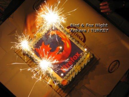 Gâteau Firefox, Ankara