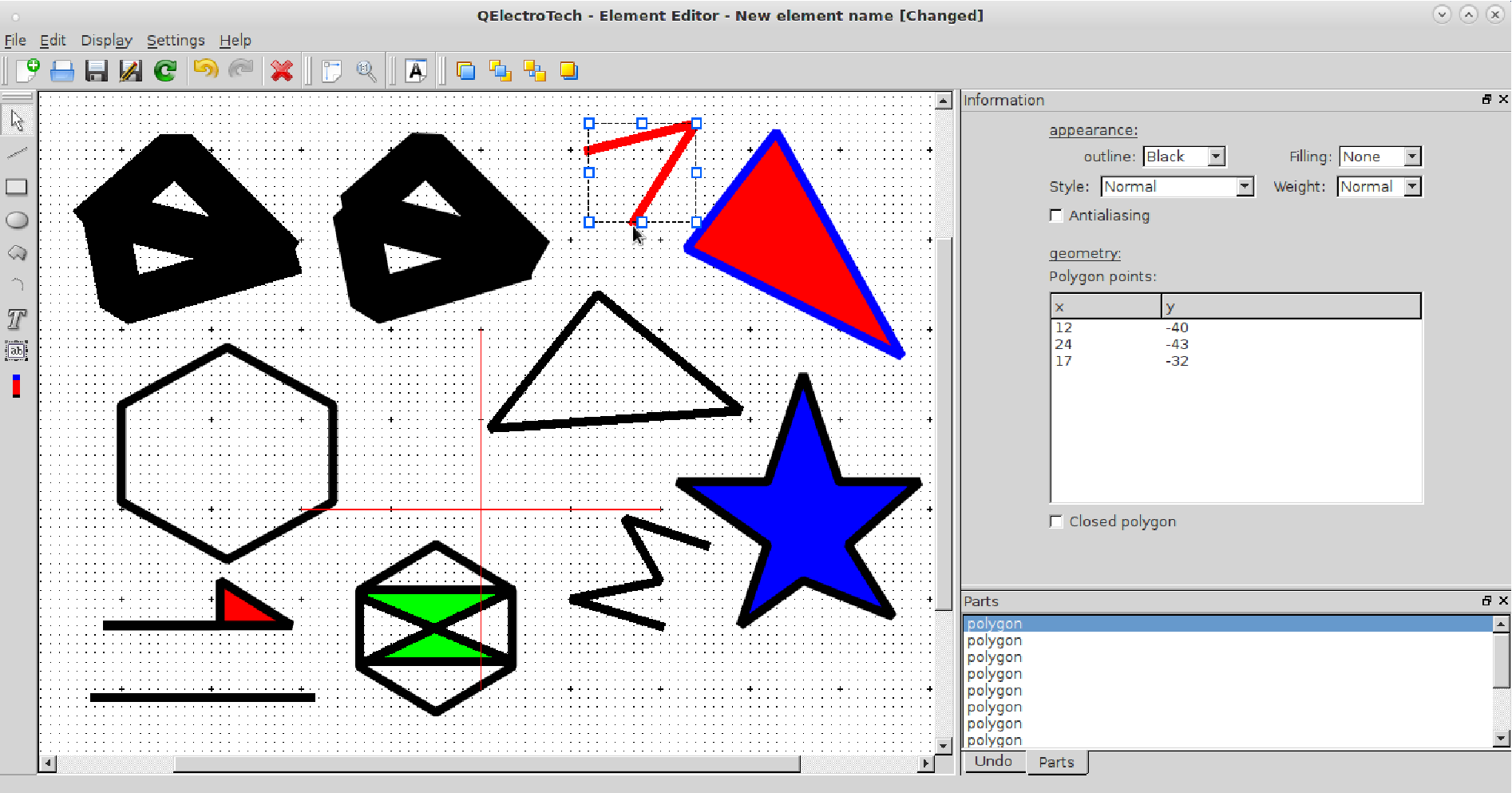 Welcome To Qelectrotech 04 Finale 2015 Documentation Symbol Besides Electrical Symbols Additionally Relay Polygon Tool In