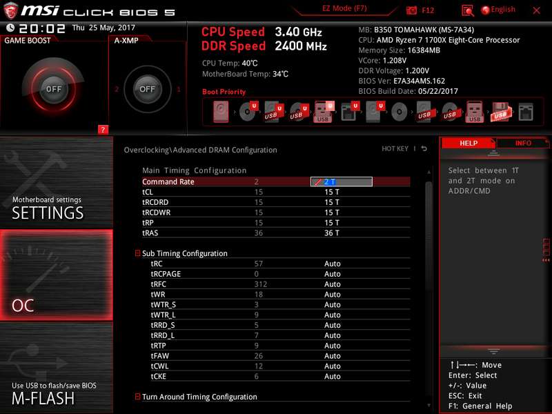 Contacted MSI but no reply for beta bios, B350 Tomahawk