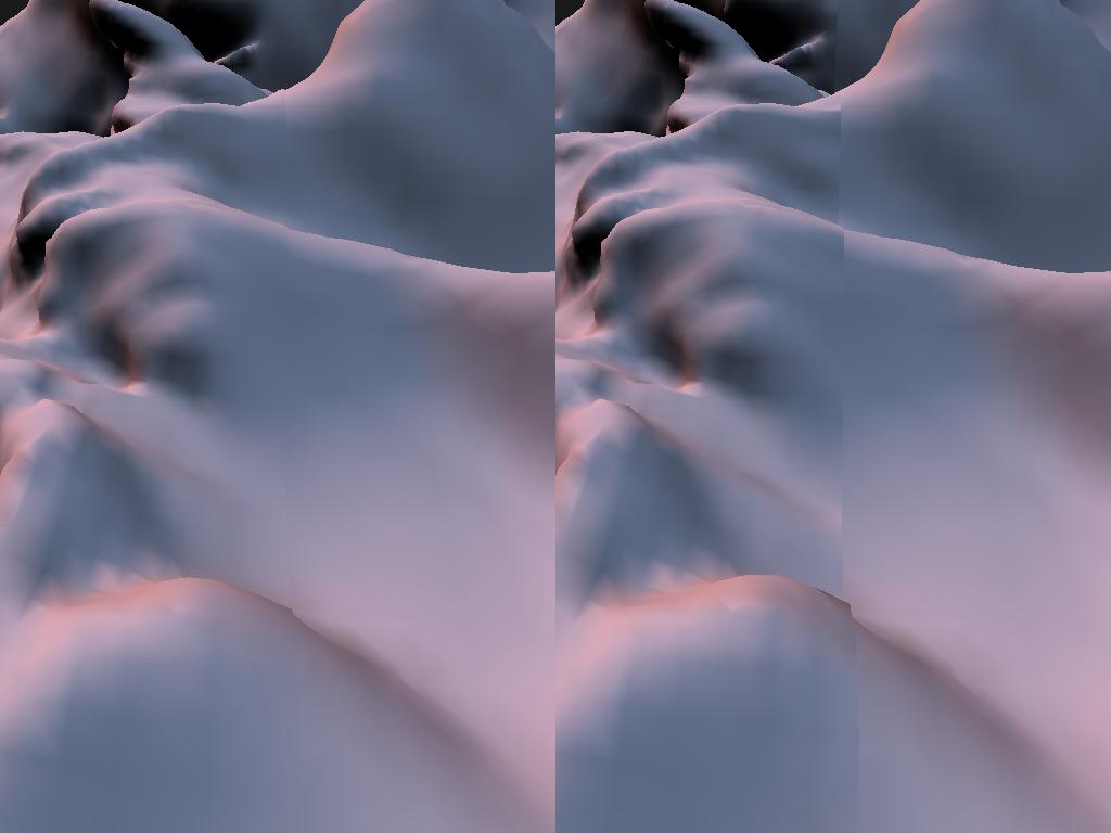 Blending of vertex normals across two LODs