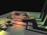 Deferred render with shadows