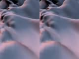 Blending of vertex normals across two LODs